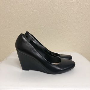 Franco Sarto Shoes - Franco Sarto Black Wedge Pumps Size 9